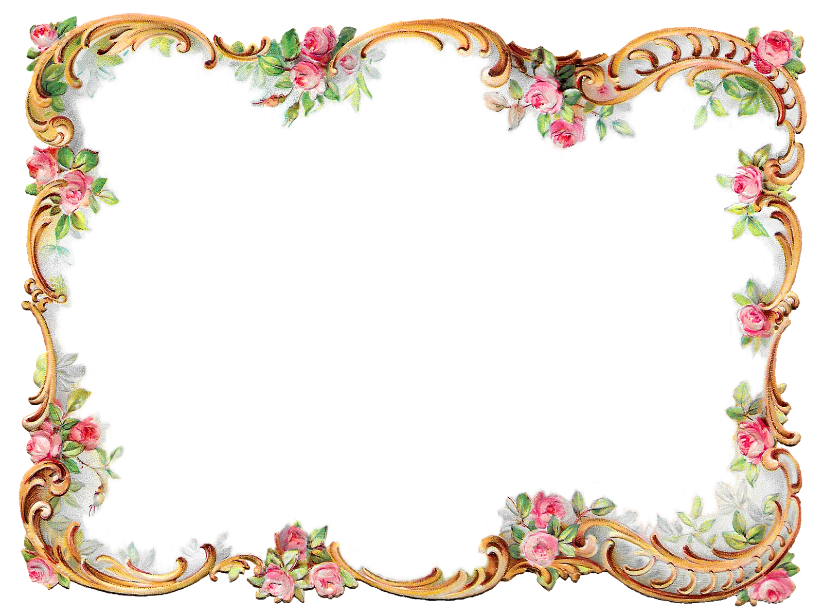 antique frame border png. Frame Border Design Image Rose Flower Printable Clipart Scrapbooking Antique Png A