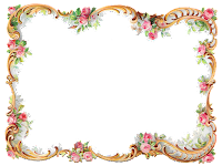 frame border design image rose flower printable clipart scrapbooking