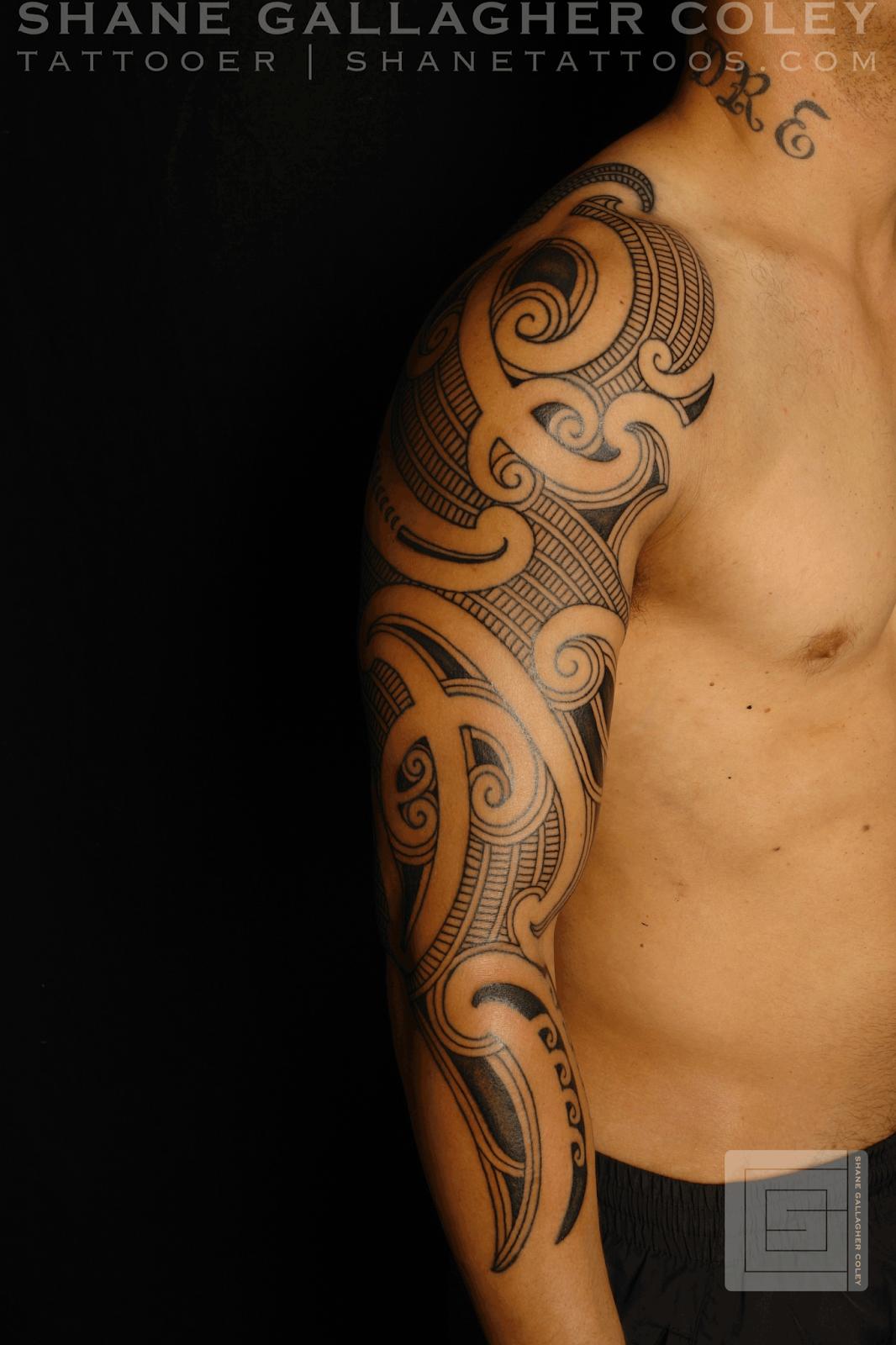 Moko Tattoo Maori: MAORI POLYNESIAN TATTOO: Maori Sleeve, Ta Moko