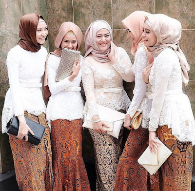 model kebaya batik modern untuk pesta