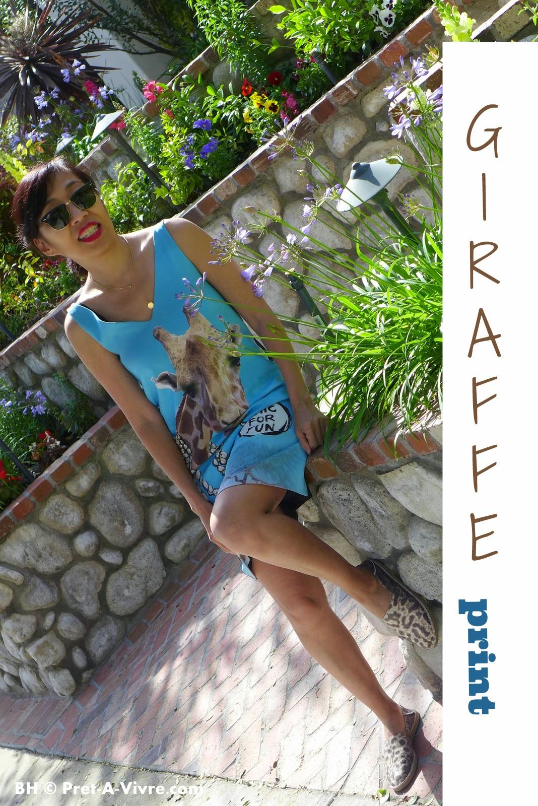 Moschino Giraffe Print Dress - Pret-A-Vivre.com