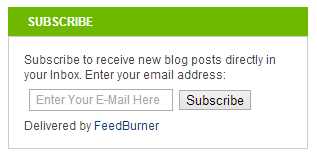 Simple Subscribe Box With Placeholder