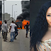 (Photos) Ex-beauty queen escapes death as her G-Wagon goes up in flames in Lagos
