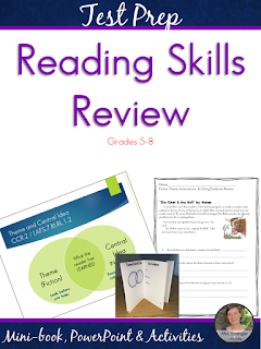 Review almost all of the Middle School Reading Skills in one week!  #fun #testprep #languagearts #teaching