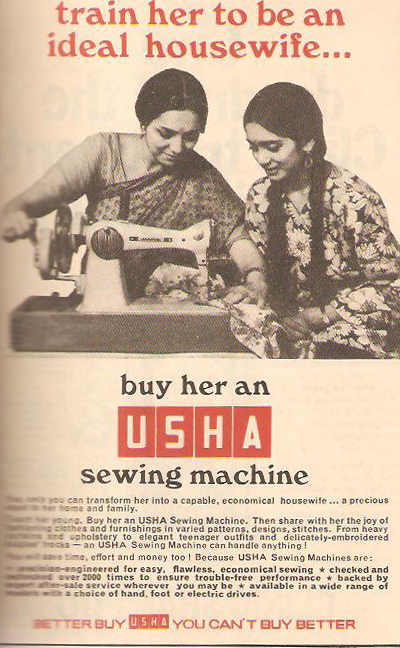 An Old Ad Of Usha Sewing Machine Classic Indian