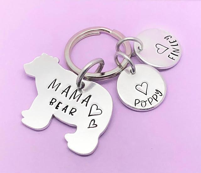 Mama Bear personalised keyring from DollyBirdUK on Etsy