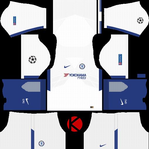 Chelsea F C  Kits 2017/18 - Dream League Soccer - Kuchalana