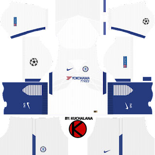 Champions league 2017/18 - Chelsea Kits