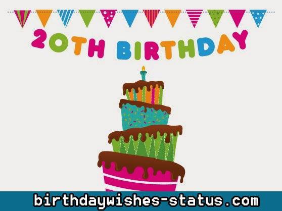 happy 20th birthday wishes