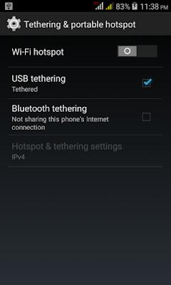 Internet USB Tethering di Linux Ubuntu Budgie