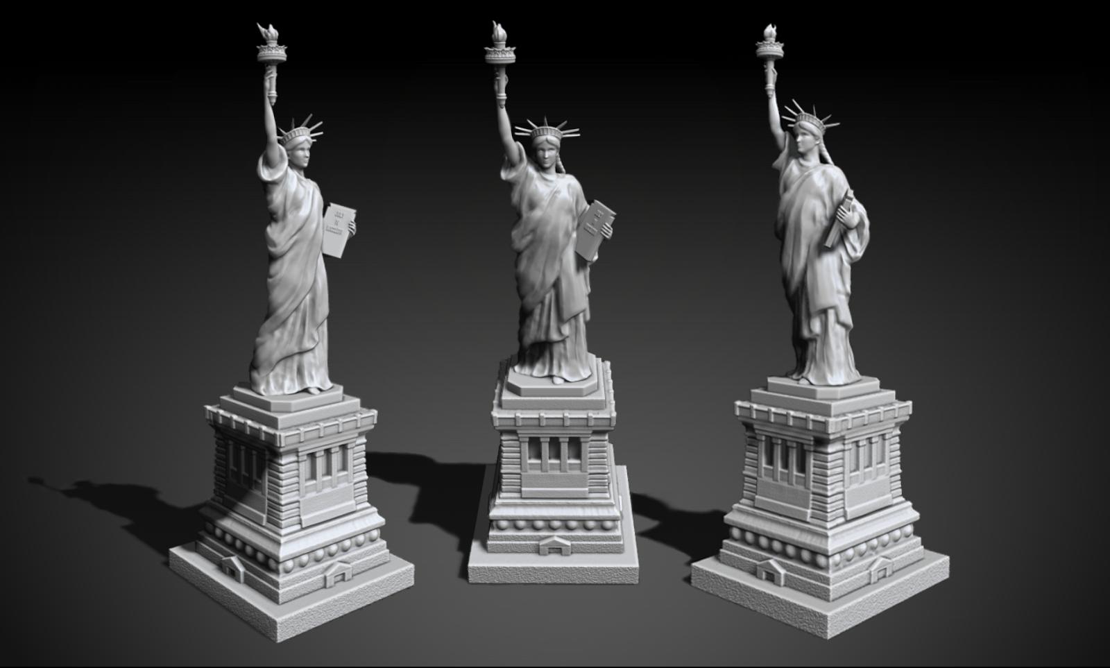 mf3dmodels statue of liberty 3d model and sls output