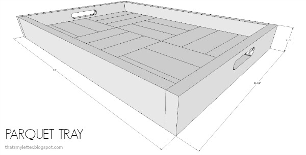 diy parquet patterned tray free plans