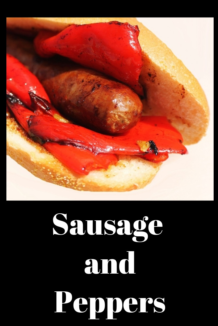 This is homemade sausage grilled and fried peppers in a homemade hoagie roll