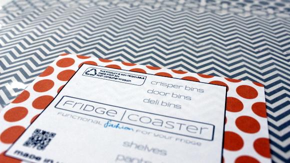 Fridge Coaster in Gray