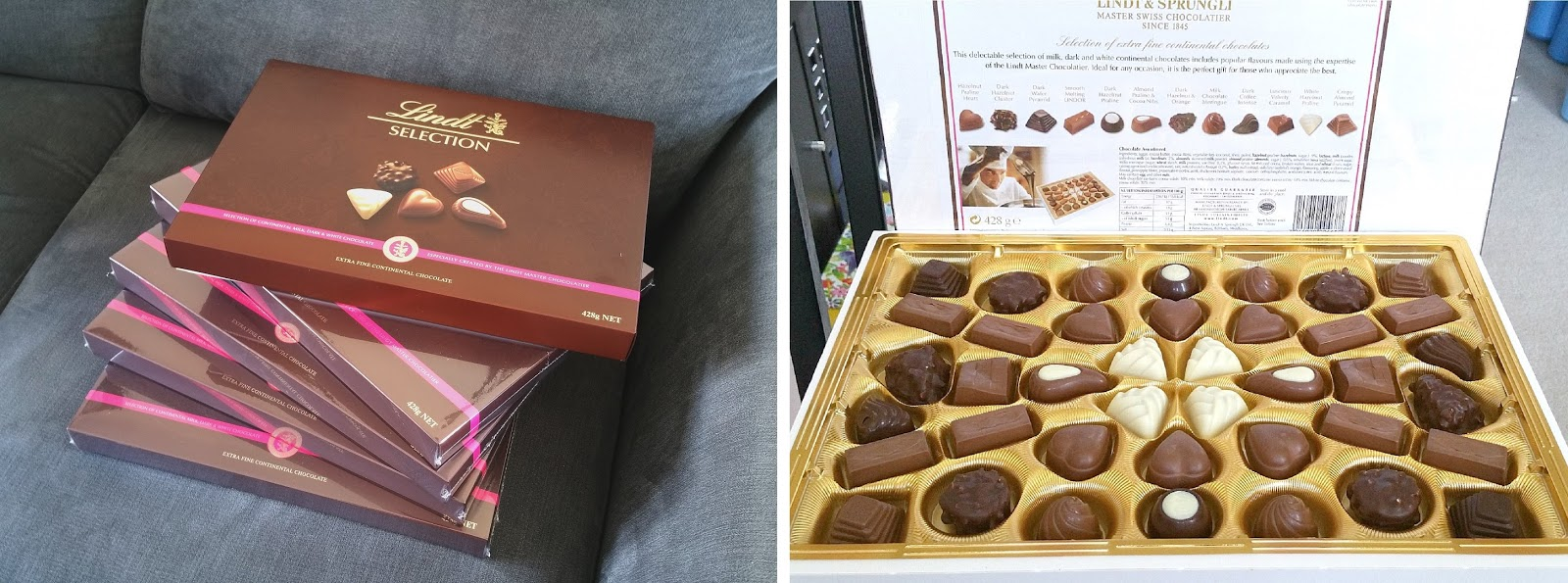 Fathers Day chocolates, Lindt Chocolates Assorted, Chocolate Decorated Lemon Cake