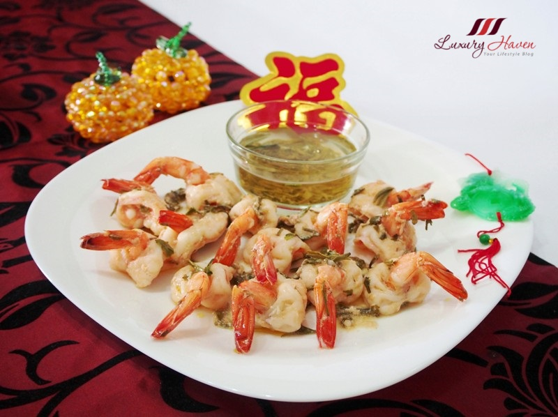 chinese new year long jin prawns recipe