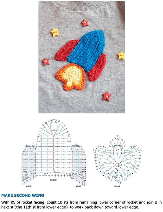 50 Aplicaciones en crochet para bebés (Patrones)