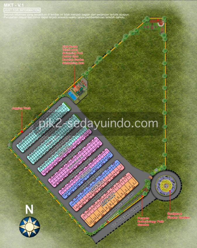 Site Plan Cluster Hawai Sedayu Indo City