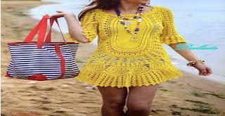 Saídas de praia feitas de crochê !