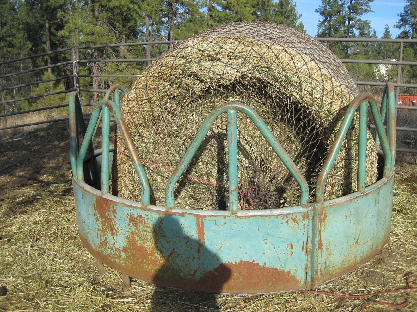 Flying Cowgirl: Making your own Slow Feeder for a Round Bale