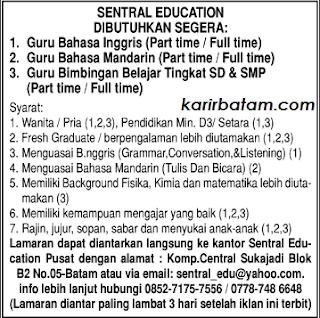Lowongan Kerja Sentral Education
