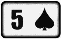five of spades playing card
