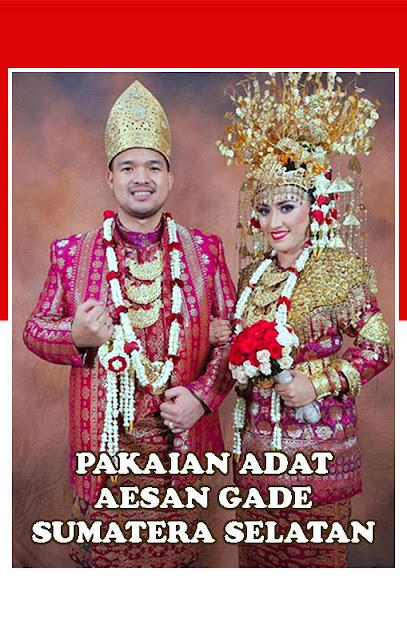 Gambar Pakaian adat Aesan Gede Sumatera Selatan