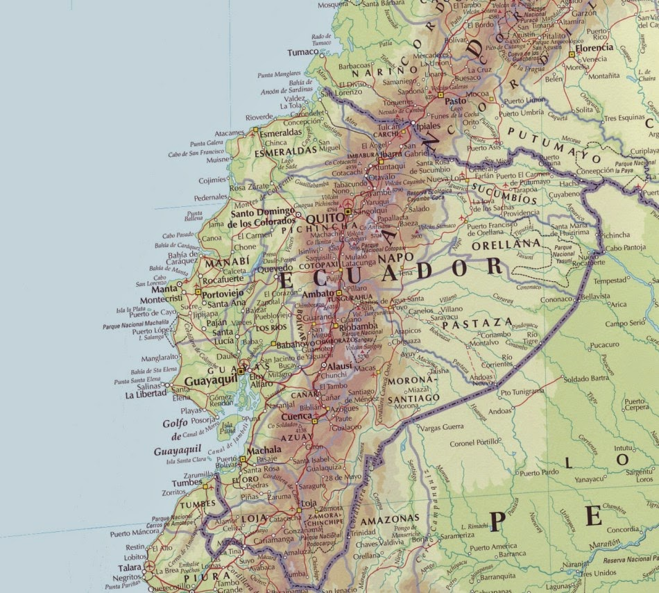 Equador | Mapas Geográficos do Equador