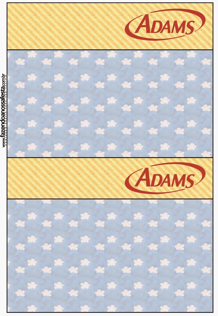 Etiquetas de chicle Adams de Nubes para imprimir gratis.