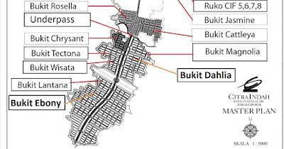 Lokasi-Cluster-Bukit-Ebony-Citra-Indah-City