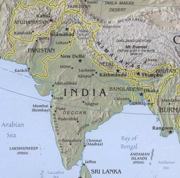 Map Of Asia Un.Geographic Travels United Nations Maps Show Kashmir As Part Of Pakistan