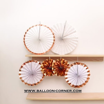Paper Fan Set 6 Pcs (NEW COLOUR)