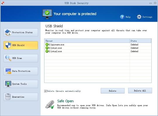 برنامج الحماية من فيروسات الفلاشات USB Disk Security
