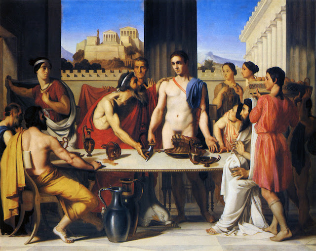Theseus Recognized by his Father   Hippolyte Flandrin (1832)