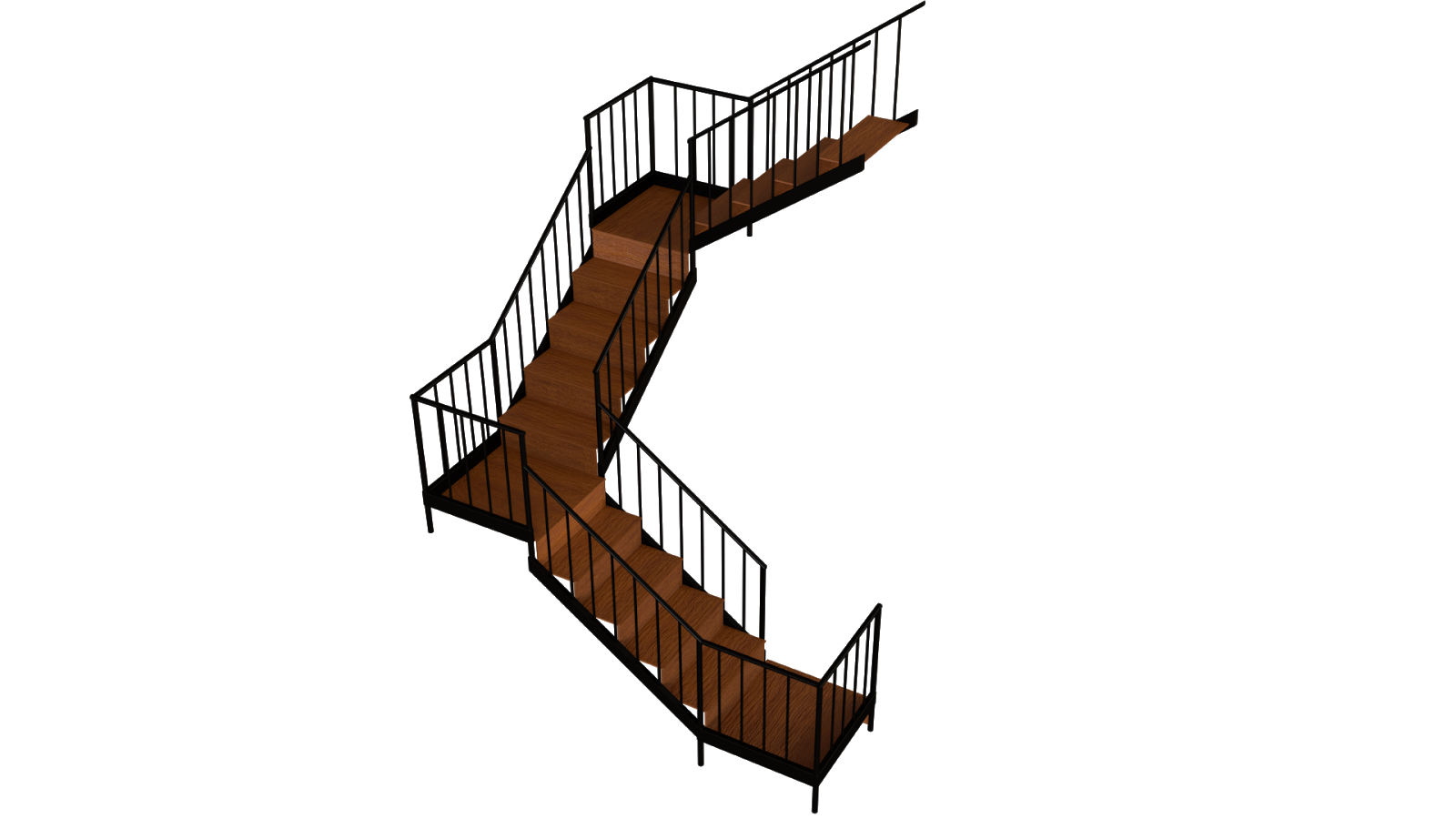 Free 3D Wood Stairs CC0 3DS - Free 3D Models Under Public Domain
