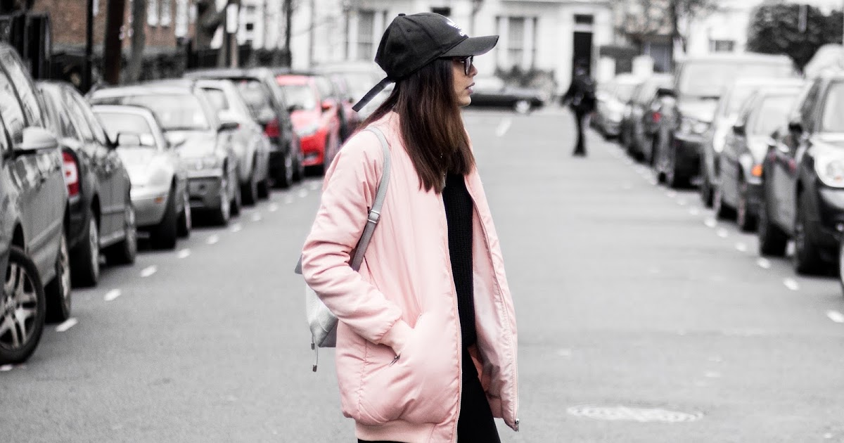 Ootd Pink House Pink Bomber Itslinamar A Blog About Beauty Fashion Travel And Lifestyle
