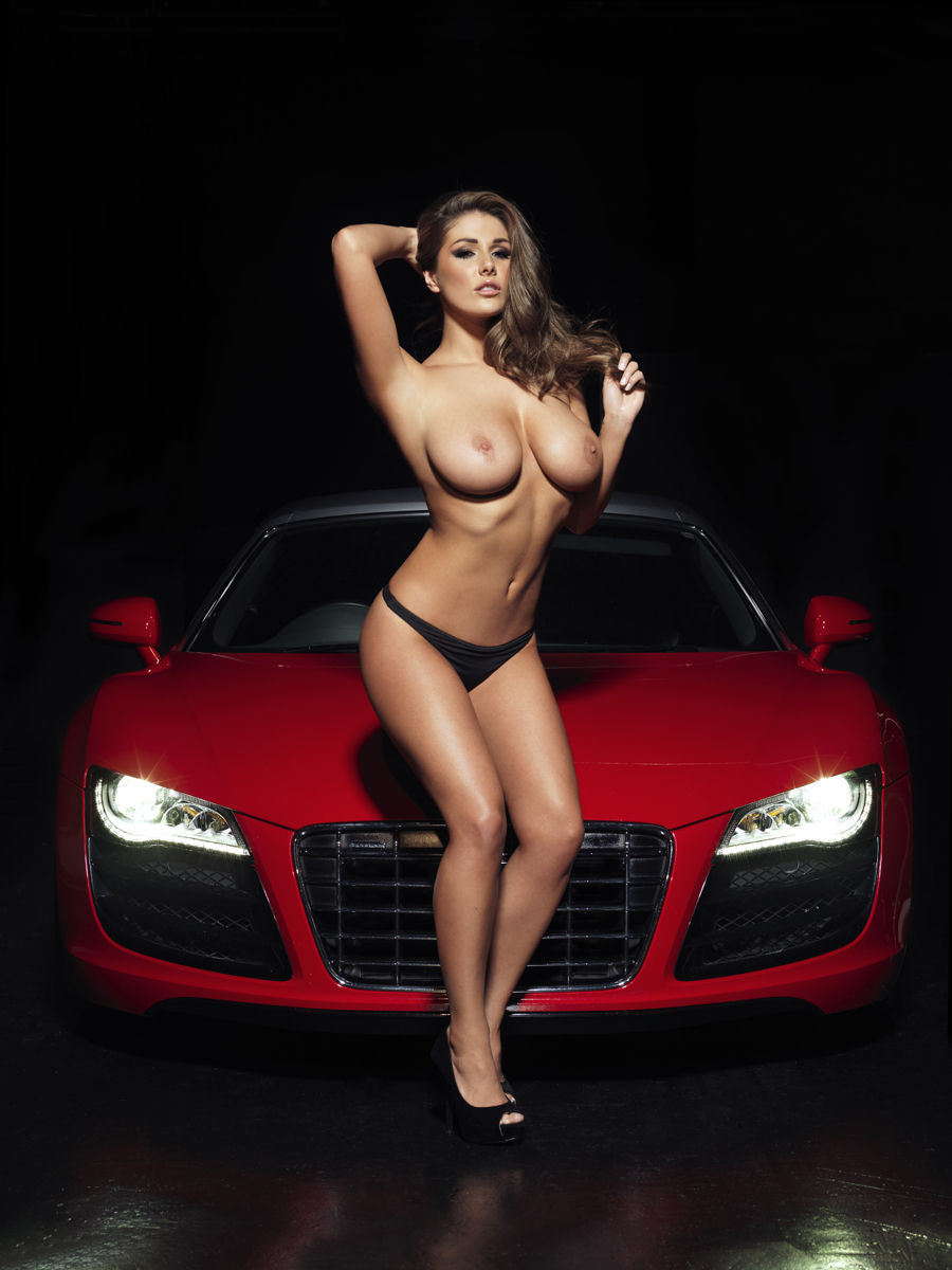 Sexy girlsdriving cars topless