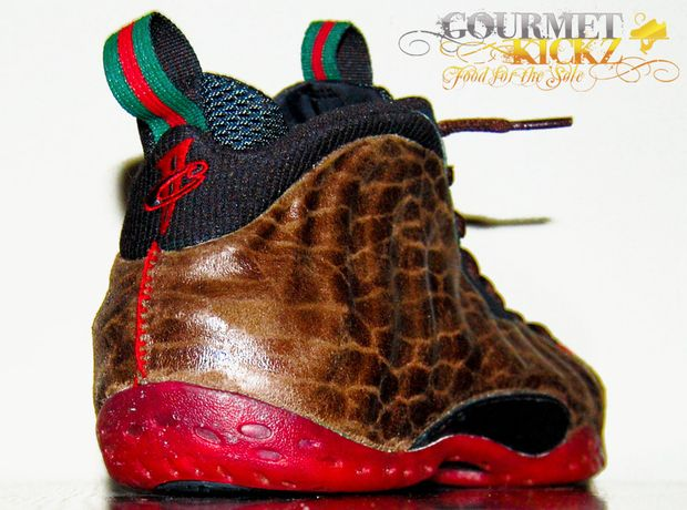 """0f883943079da4 Here us a look at a custom Nike Air Foamposite One """"Gucci Snakeskin""""  Sneaker Designed By Gourmet Kickz. What do you guys think of these kicks"""