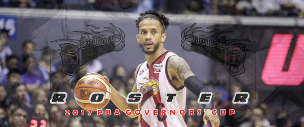List of San Miguel Beermen Roster 2017 PBA Governors' Cup