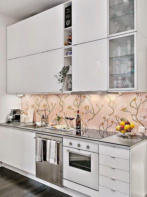 Parede estampada na cozinha Reciclar e Decorar  Blog de