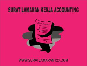 Contoh Surat Lamaran Kerja Accounting Bahasa Inggris