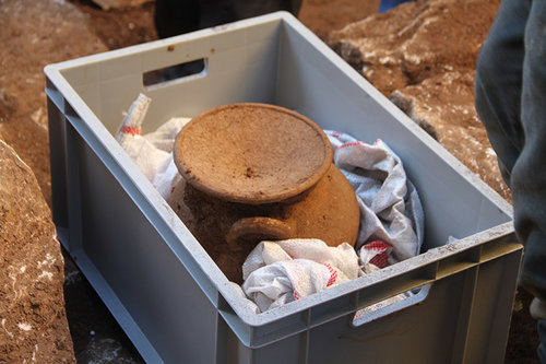 Hellenistic cremation urn found in southwestern Turkey