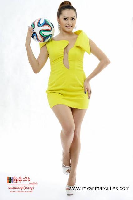 Thiri Shinn Thant with 2014 World Cup theme
