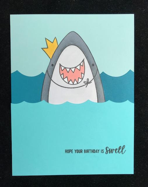Granny Cats Crafts Shark Birthday Card