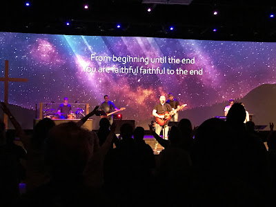 Paul & Hanna McClure leading worship on Friday night at the Fire and Fragrance Conference in Calgary