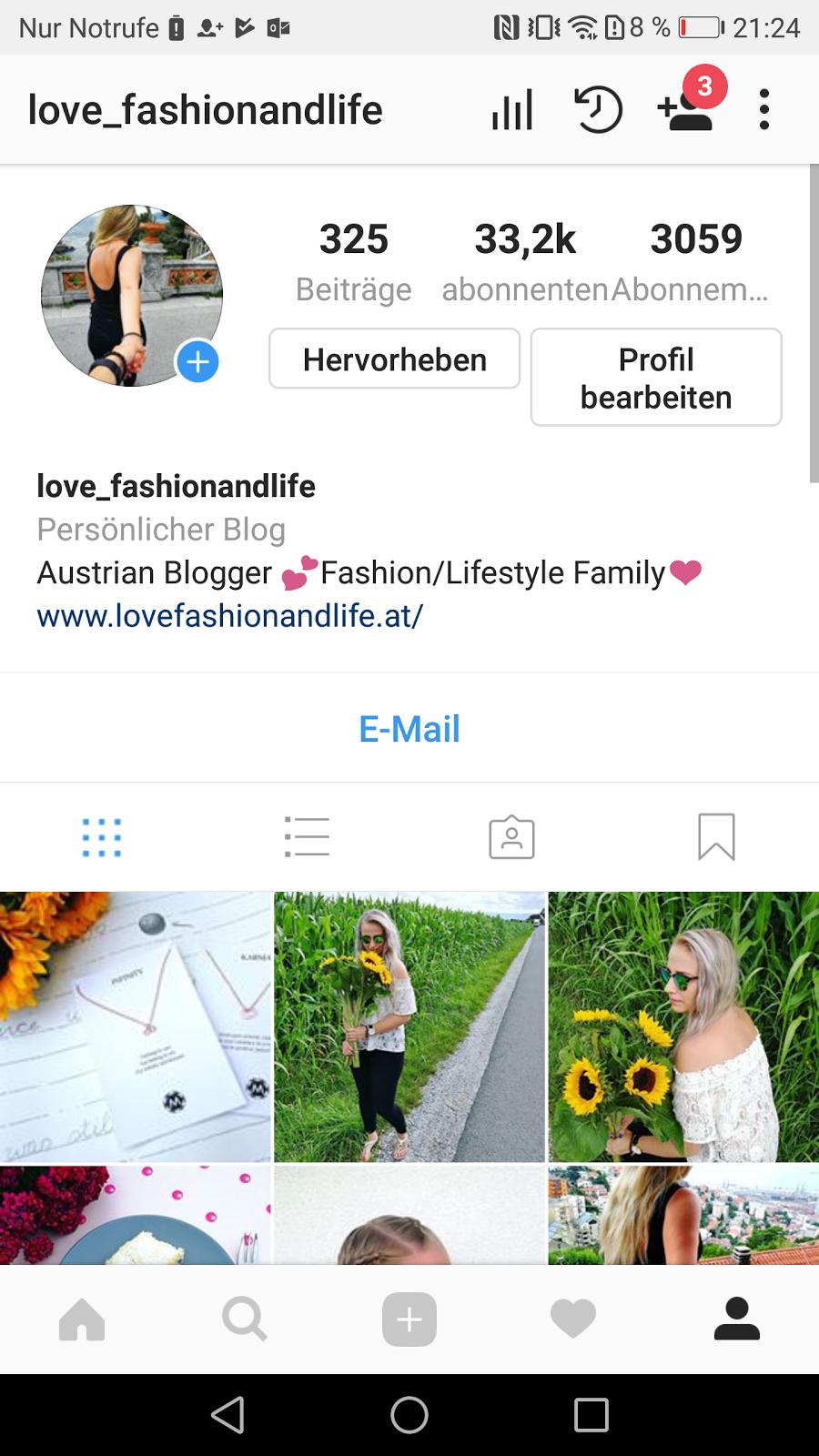 Instagram Kanal Mode und Lifestyle