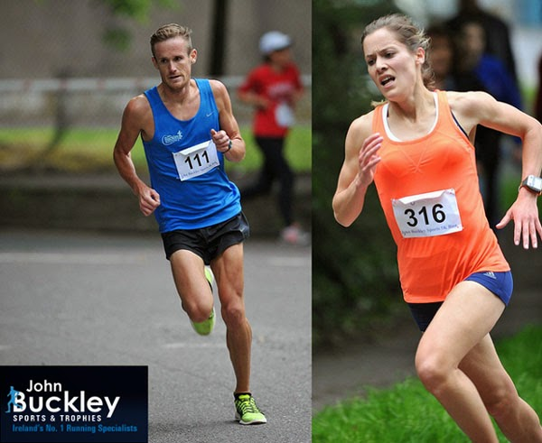 911fd277e Winners of the John Buckley Sports 5k...Mark Hanrahan and Orla Drumm.