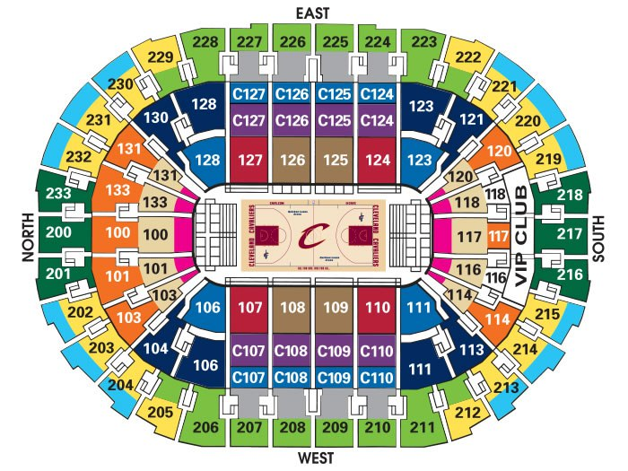 Quicken Loans Arena Seating Chart & Interactive Seat Map SeatGeek - quicken loans seating chart