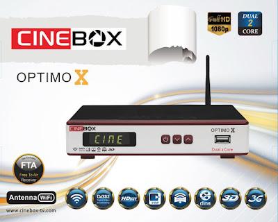 cinebox - NOVA ATUALIZAÇÃO DA MARCA CINEBOX Cinebox%2BOptimo%2BX