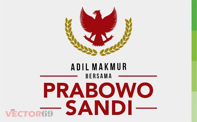 Logo Kampanye Prabowo-Sandi Capres 02 Adil Makmur - Download Vector File CDR (CorelDraw)